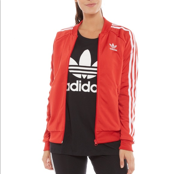 b84221b028ef adidas Jackets   Blazers - Adidas Red Track Jacket